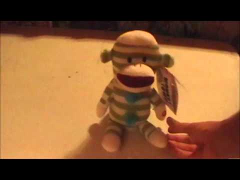 Musical Sock Monkey Toy Electronic, Battery & Wind-up