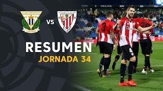 Resumen de CD Leganés vs Athletic Club (0-1)