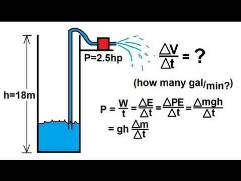 Physics - Mechanics: Work, Energy, and Power (17 of 20) Pumping Water