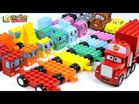 Learning Color Disney Cars Lightning McQueen chichi land Assembly Play for kids car toys