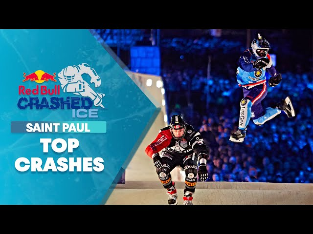 Top Crashes from Red Bull Crashed Ice: Saint Paul