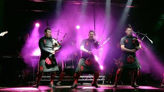 Red Hot Chilli Pipers live show finale with Auld Lang Syne in Perth Scotland Christmas 2018
