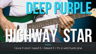 Deep Purple - Highway Star (como tocar - aula de guitarra)