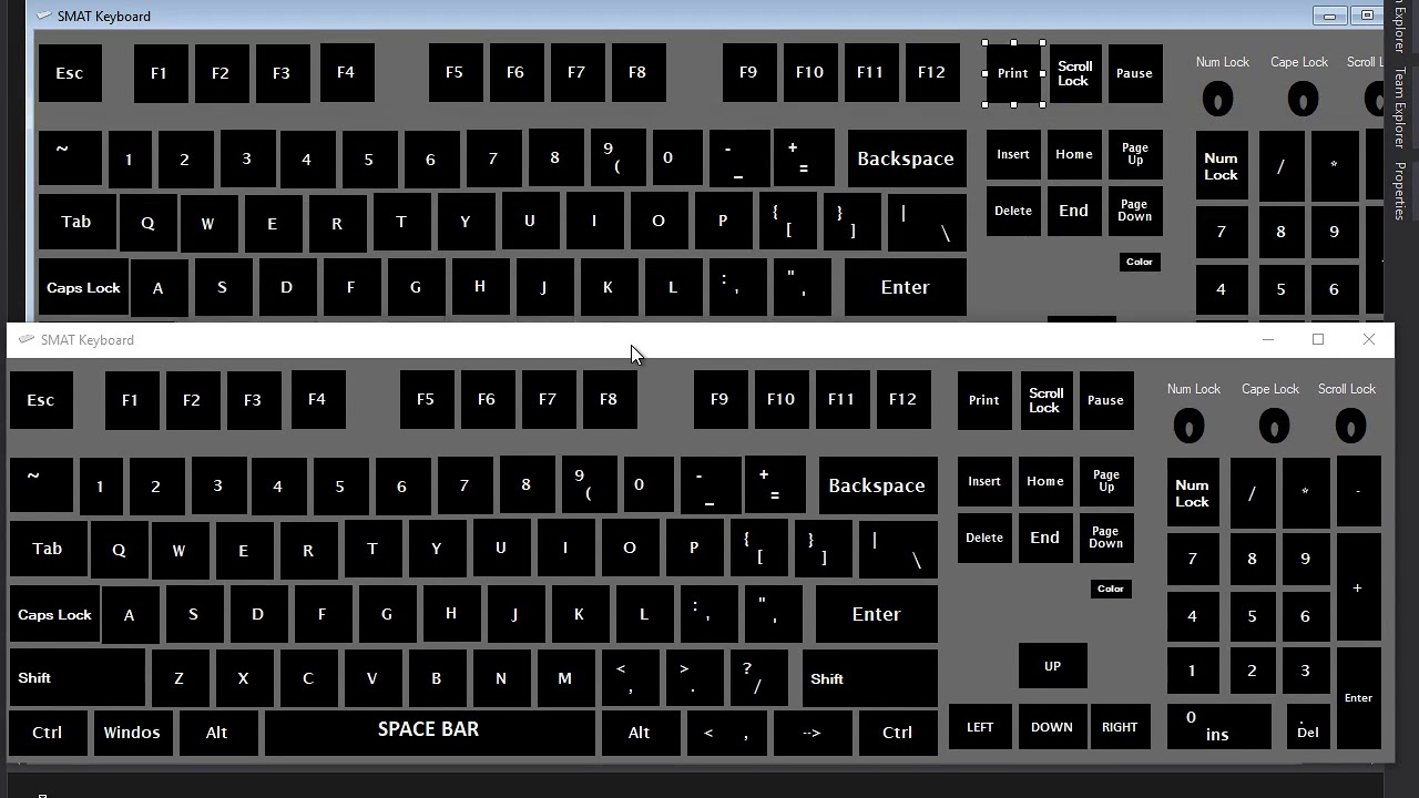 code for virtual keyboard in c# || source code for virtual