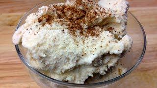 Eggnog Ice Cream - Christmas Recipe