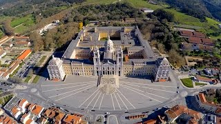 Mafra National Palace aerial view