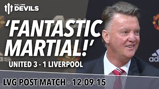 Video 'Fantastic' Martial! | Manchester United 3 Liverpool 1 | Louis Van Gaal Press Conference download MP3, 3GP, MP4, WEBM, AVI, FLV Maret 2018