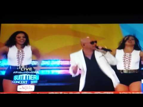 Pitbull live on Good Morning America part 1