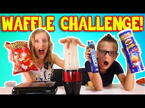 Thumbnail: MAKING WAFFLES out of RANDOM THINGS!!!!! CRAZY WAFFLE CHALLENGE!!!!