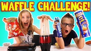 MAKING WAFFLES out of RANDOM THINGS!!!!! CRAZY WAFFLE CHALLENGE!!!!