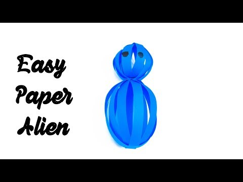 Easy Paper Alien | How to Make Easy Paper Alien | DIY Craft Paper