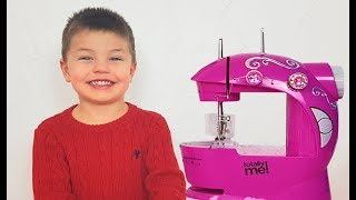 Richard sews beautiful clothes for kids