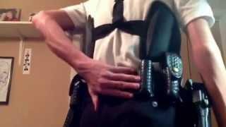 Police Explorer Uniform and Duty Belt.