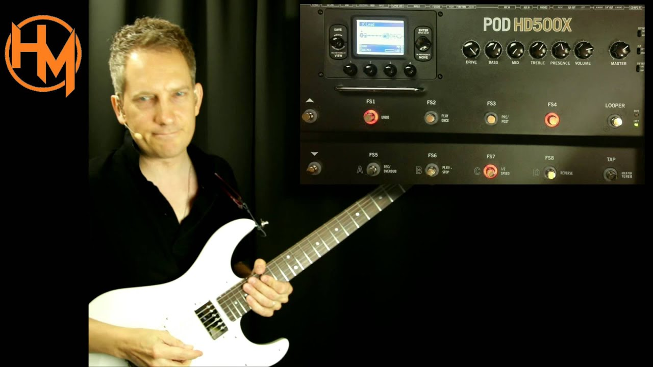 Line 6 hd500 looper and effects demo youtube.