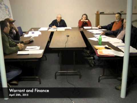 Warrant and Finance - 04-20-2015