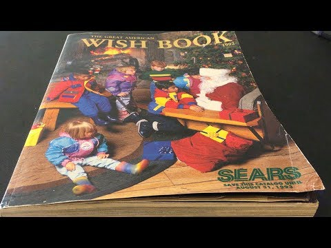 A LOOK BACK AT 1992 THROUGH A SEARS WISH BOOK - TOYS, SPORTS CARDS & MUCH MORE