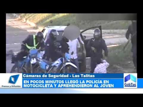 La policía detectó una pelea en Las Talitas por medio de las cámaras  - Gobierno de Tucumán