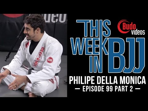 TWIBJJ Episode 99 Philipe Della Monica Part 2 of 2 reverse half guard set up and sweep