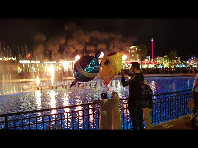Global Village Dubai fire show