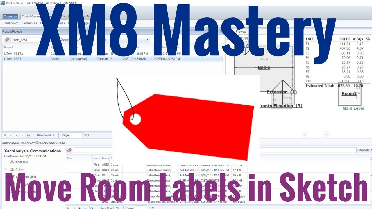 Move Room Labels in Sketch by XM8 Mastery
