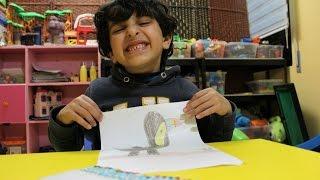 رسمنا طائر منقاره ملون We drew a bird with colored beak