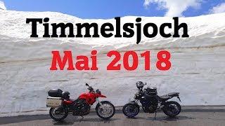Schneewände am Timmelsjoch im Mai 2018 | BMW F800GS