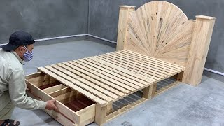 How To Build A Beautiful Single Bed Out Of Pallets For Your Child - Creative Woodworking Idea Design