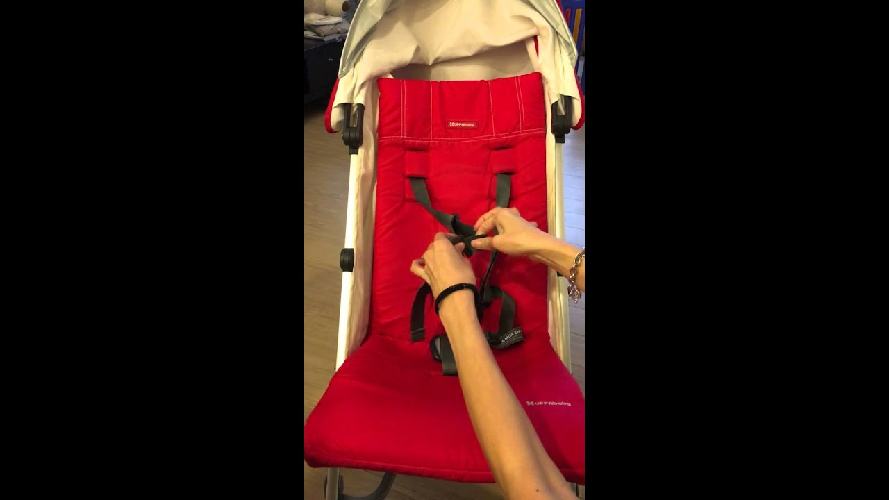 UPPAbaby G-Luxe Stroller - How to remove the seat pad & UPPAbaby G-Luxe Stroller - How to remove the seat pad - YouTube