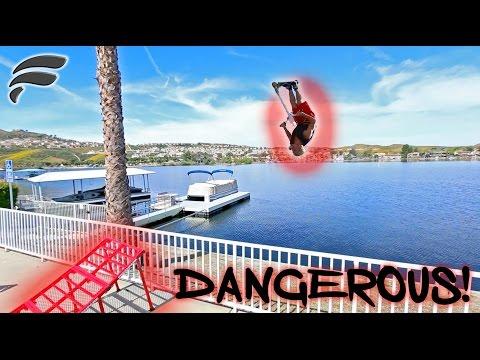 DANGEROUS 40FT LAKE JUMP (COPS)