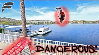 DANGEROUS 40FT LAKE JUMP (COPS)