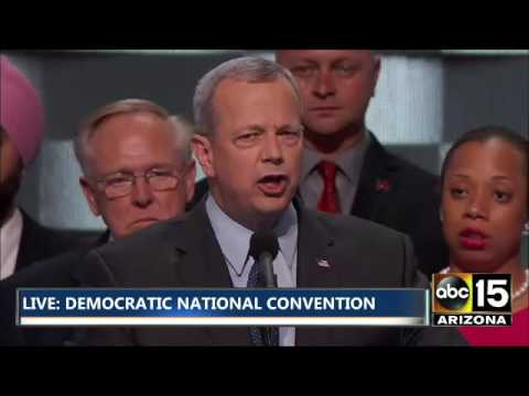General John Allen (ret. USMC) speaks at the Democratic National Convention.