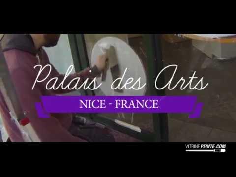 Peinture & Décoration de Vitrine - NICE / Boulangerie Palais des arts nice