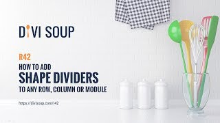 Divi Tutorial - Recipe #42 - How to Add Shape Dividers to Any Row, Column or Module Video
