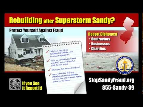 Stop Sandy Fraud in NJ Radio PSA