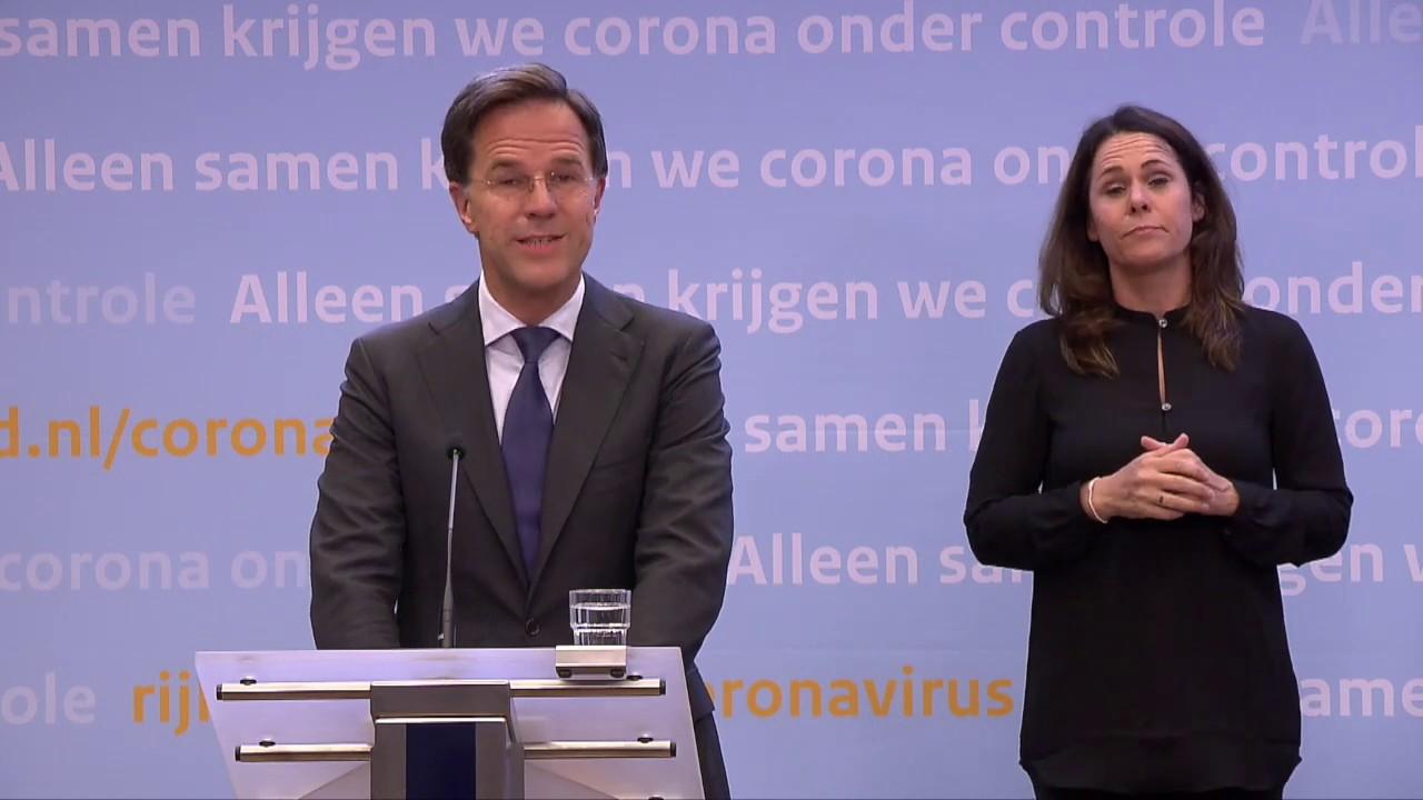Integrale Persconferentie Van MP Rutte En Minister Hugo De