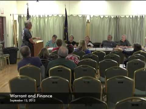 Warrant and Finance - 09-13-2012