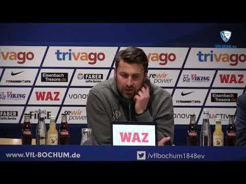 Die Pressekonferenz nach der Partie VfL Bochum 1848 - SV Darmstadt 98