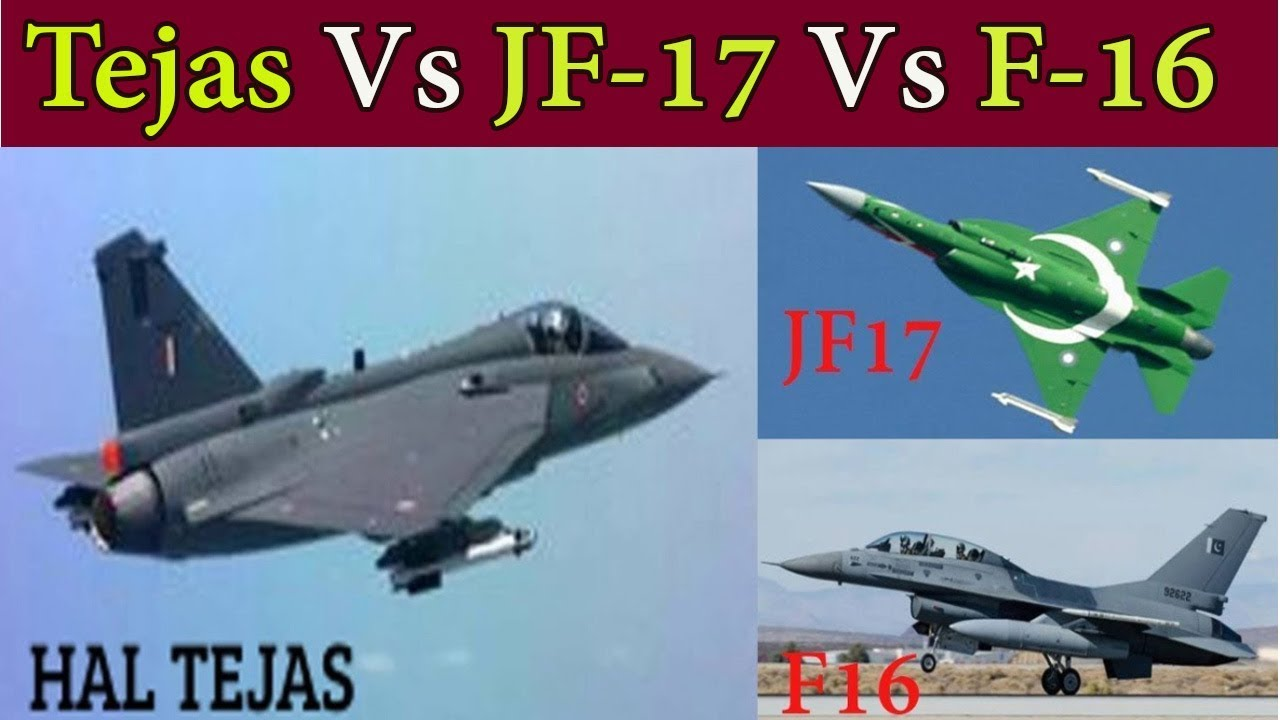 IAF HAL Tejas Vs PAF JF17 and F16