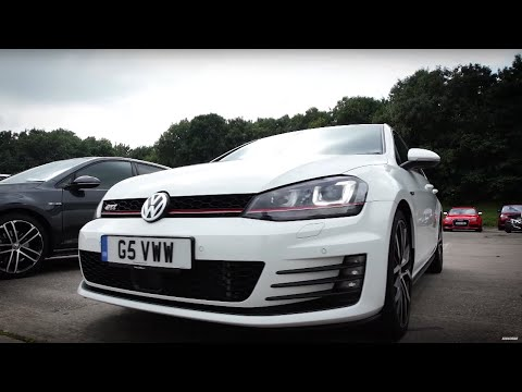 VW Golf R vs VW Golf GTI PP vs VW Golf GTD | Top Gear: Drag Races