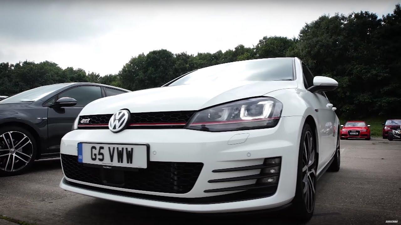 VW Golf R vs VW Golf GTI PP vs VW Golf GTD  Top Gear Drag Races