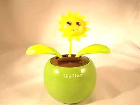 Magic Cute Dancing Flower with Pot powered by Solar Energy (batteryless)