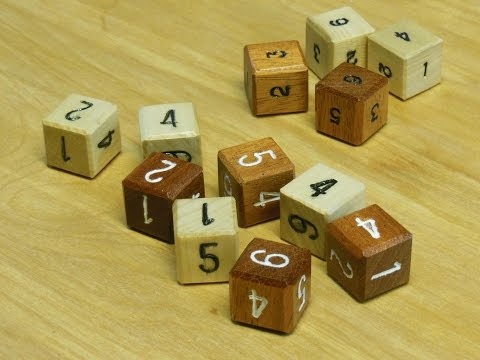 Snake Eyes: Make wooden dice (Quickie Project #2)