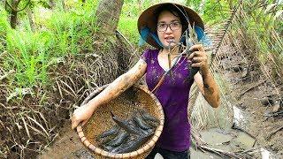 Tát Ao Bắt Tôm Càng Xanh Khủng Luộc Trong Trái Dừa Ăn Ngay Tại Chổ | MTTL Tập 129