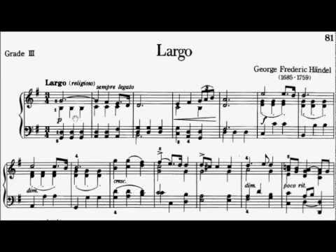 Piano Pieces for Children Grade 3 No.12 Handel Largo (P.81) Sheet Music