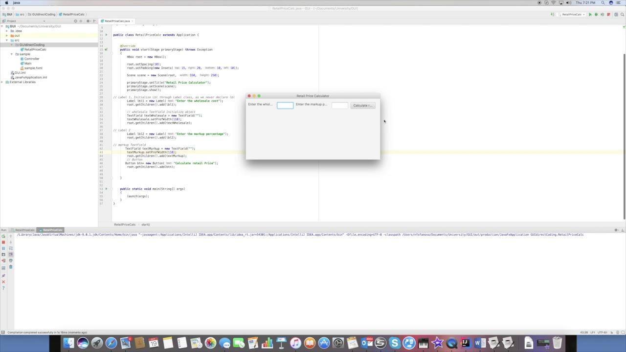 JavaFX in IntelliJ: Hbox layout