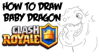 How to Draw Baby Dragon (Clash Royale)