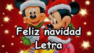 Feliz Navidad Próspero Año Y Felicidad Mejor Versión Letra Youtube