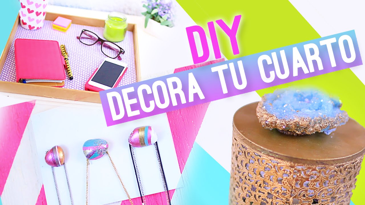 DIY DECORAR TU CUARTO o HABITACION (IDEAS FÁCILES ... on Room Decor Manualidades Para Decorar Tu Cuarto id=77827