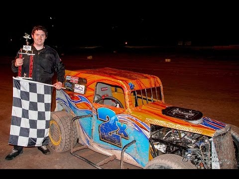 Kane Williams In car at Mohave Valley Speedway 03 25 17