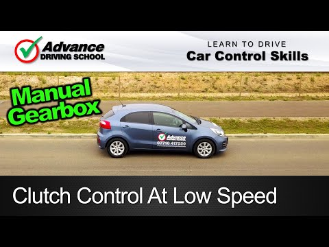 Clutch Control At Low Speed Learning to drive Car control skills
